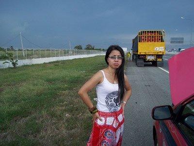 Taxi to Pattaya broke down