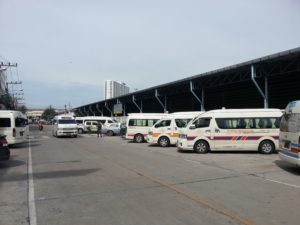 Minivans at Hat Yai Bus Station