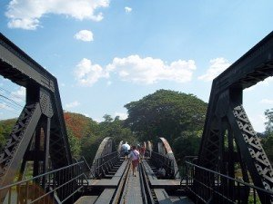 Bridge over River Kwai on foot