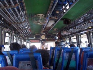 Inside Bus Kanchanaburi to Suphanburi