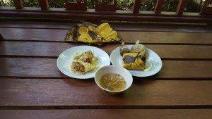 Khao Man Gai Baan in Banana Leaf