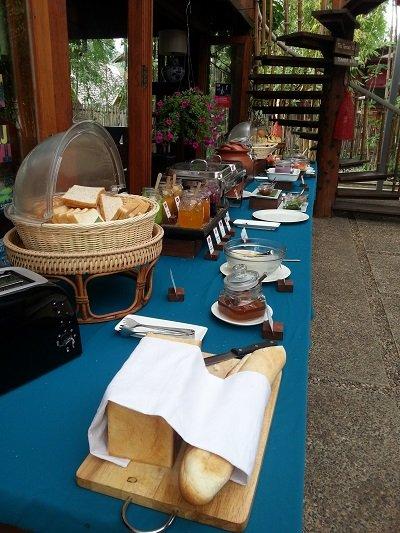 Buffet breakfast at Pai Village Resort & Farm
