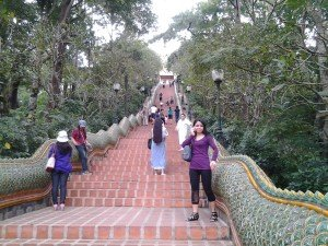 Steps upto Wat Doi Suthep near Chiang Mai