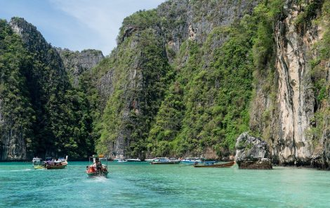 Coastal cliffs in Koh Phi Phi