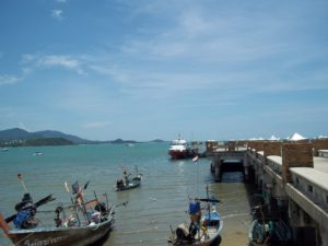 Seatran ferry at Bangrak Pier in koh Samui