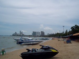 Pattaya City has a busy beach