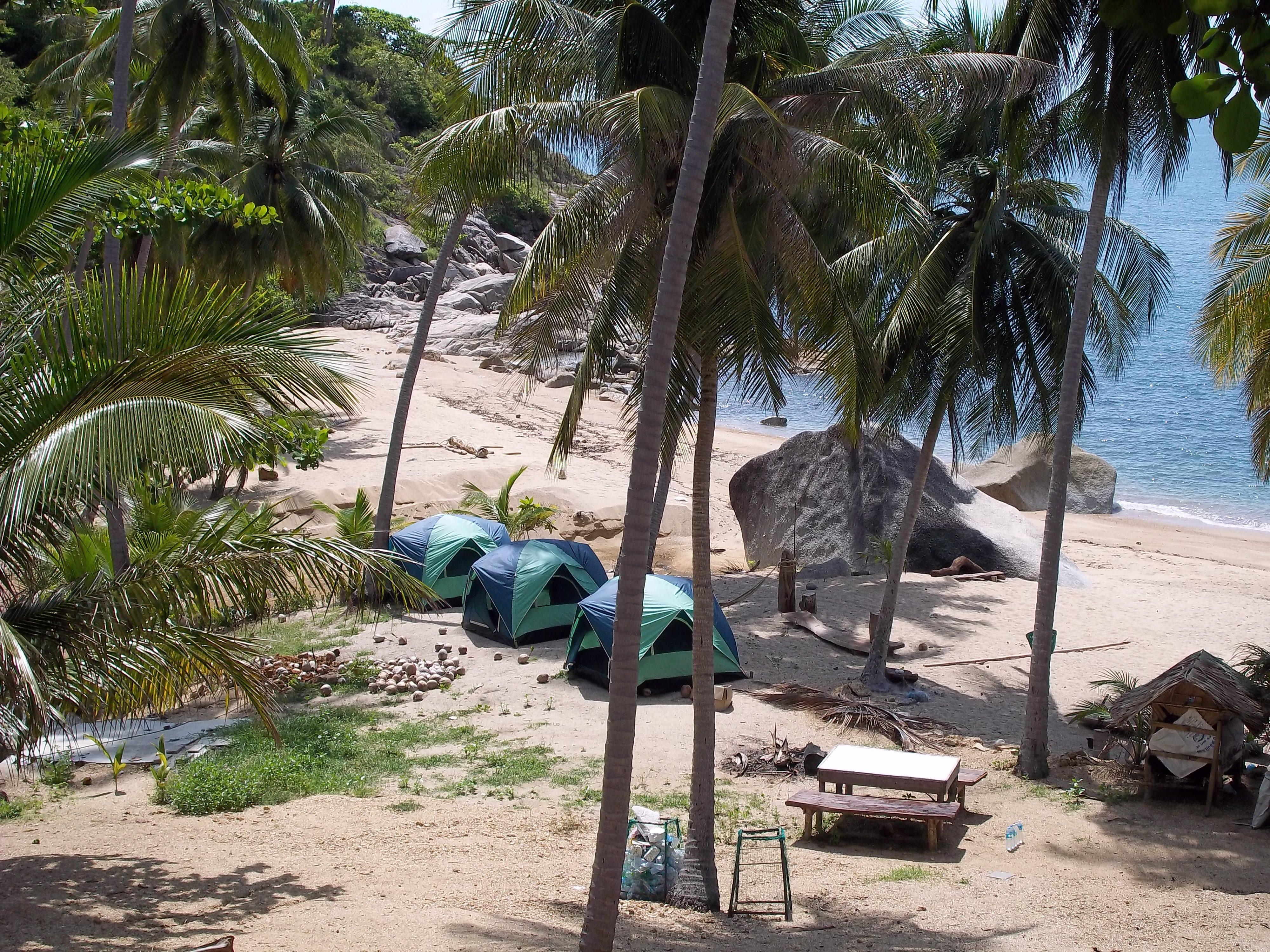 Camping at Haad Nam Tok