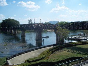The famous Bridge over the River Kwai is located in Kanchanaburi