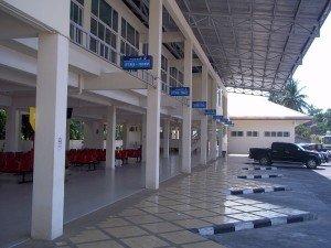 Koh Samui Bus Station departure platforms