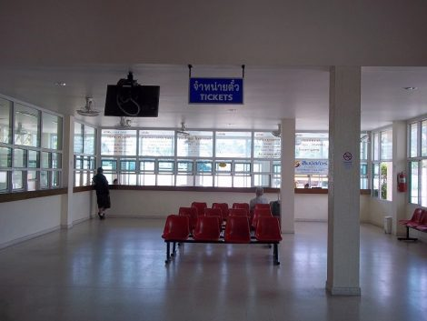 Ticket counters at Koh Samui Bus Station