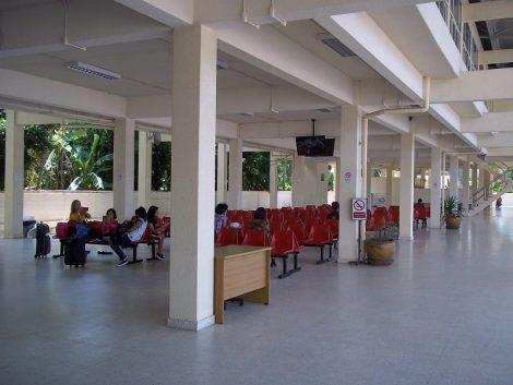 Waiting area at Koh Samui Bus Station