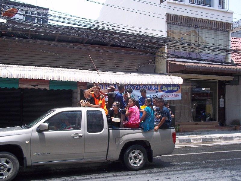 Songkran in a truck