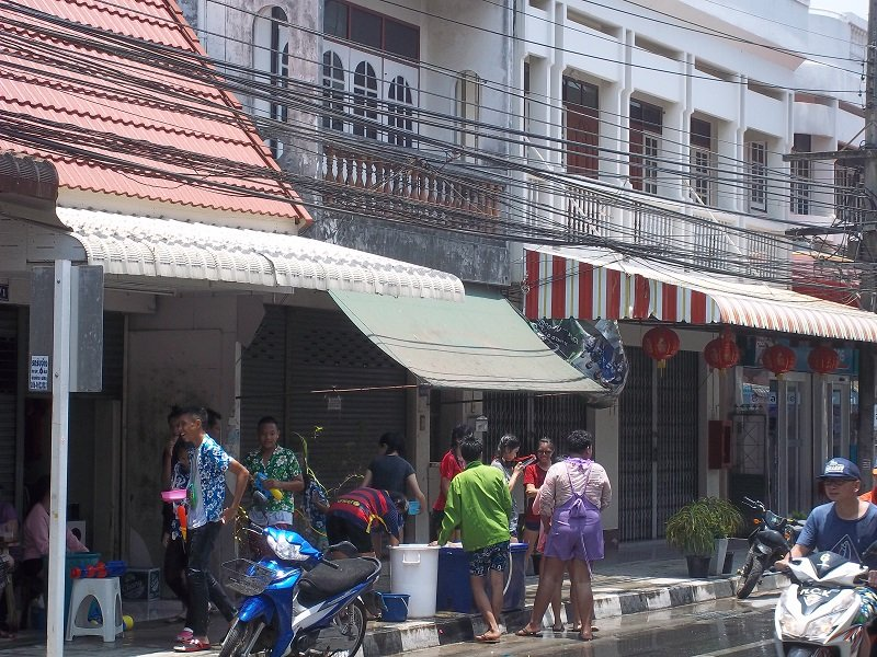 Songkran on the street
