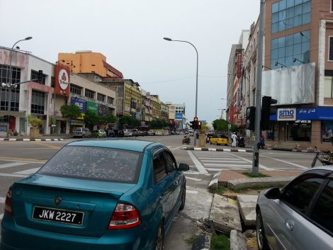 View down the street from Kota Bharu Central Bus Station