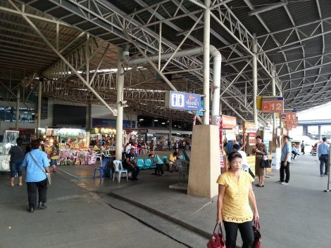 Main station building at Sai Tai Mai Bus Station