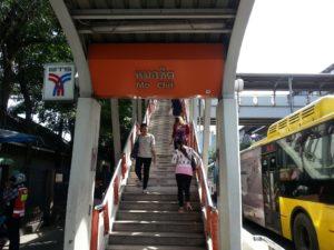 Mo Chit BTS Station near Morchit bus station