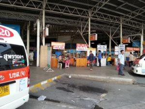 Minivan Ticket Counters at Sai Tai Bus Station