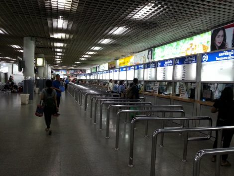 The Ticket counters at Morchit Bus Station are on the 3rd level