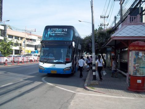Lomprayah bus departing from Hua Hin to Koh Phangan