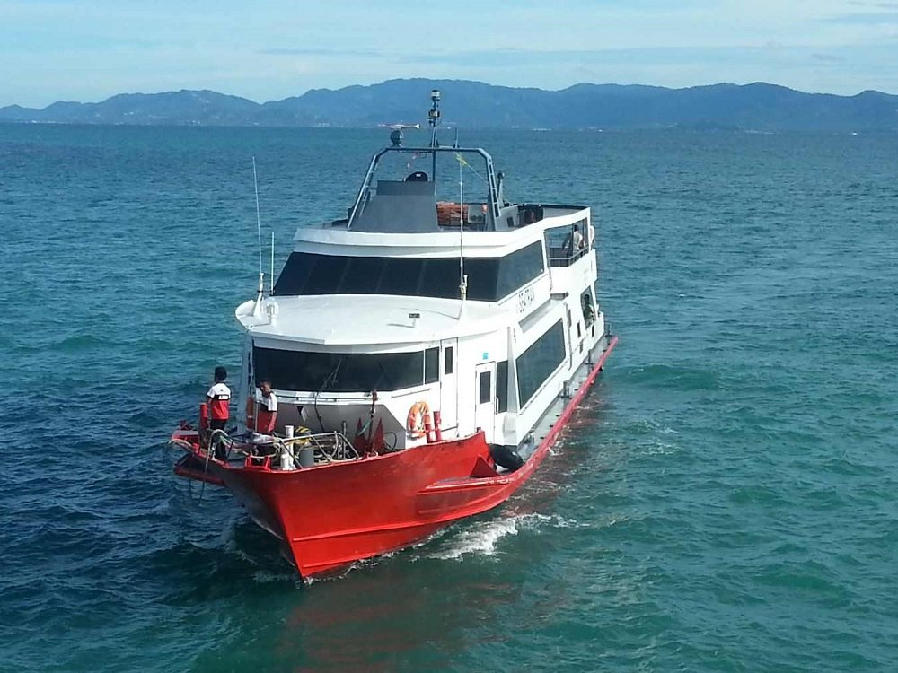 Seatran Discovery Ferry arriving at Koh Phangan