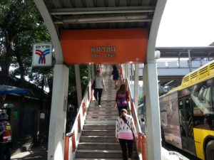 The A1 Shuttle Bus from Don Mueang Airport goes to Mo Chit BTS station