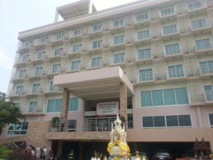 Front view of the Prachuap Grand Hotel