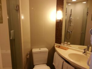 Bathrooms at the Hotel ibis Bangkok Siam