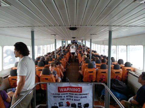 Inside the Songserm Ferry to Koh Tao
