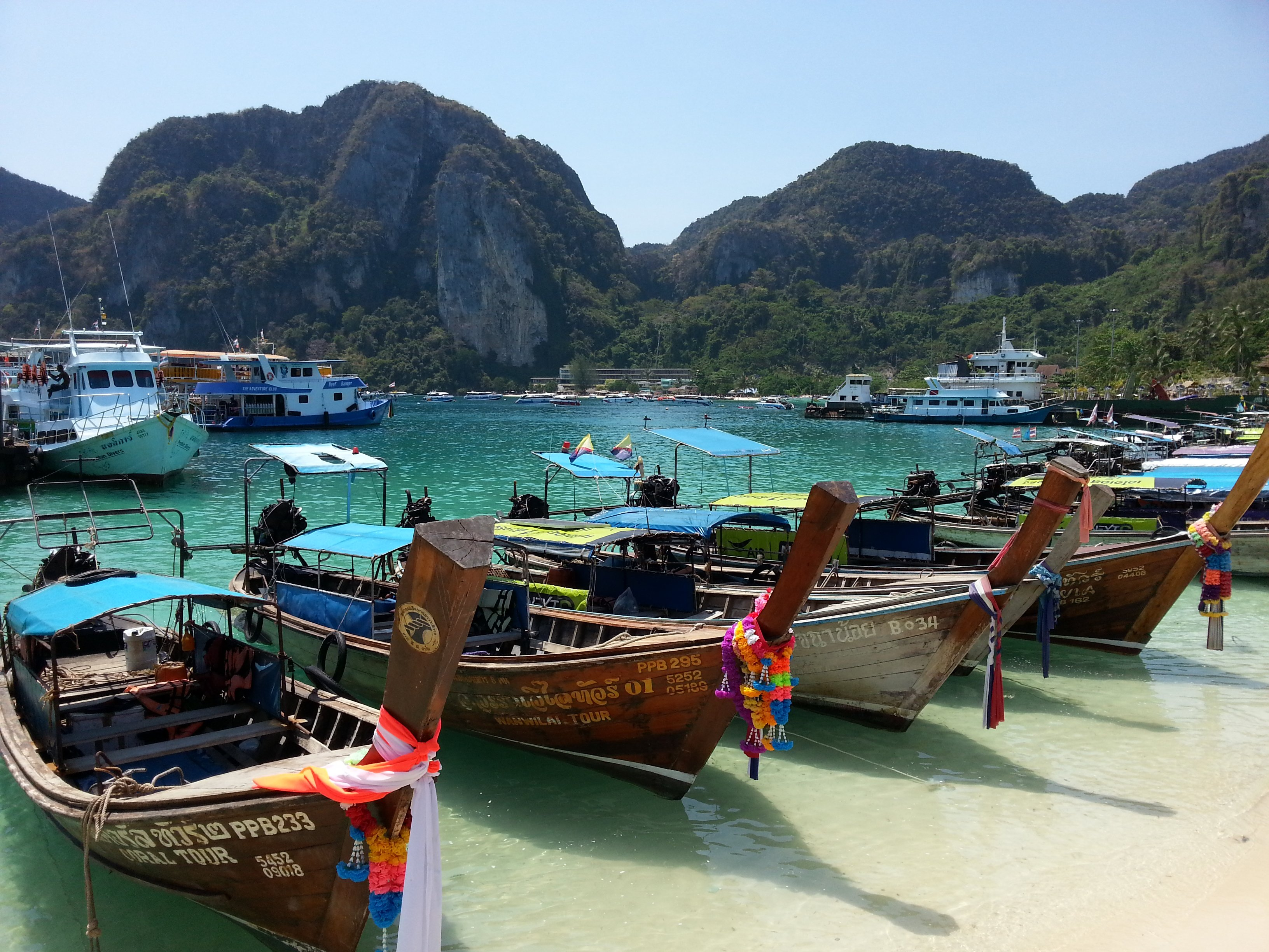 Longtail Boats in Koh Phi Phi
