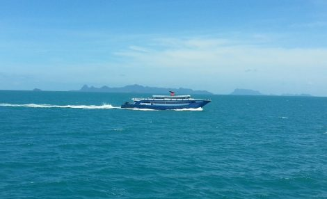 The Songserm Ferry travelling to Koh Tao