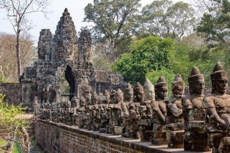 Angkor Thom temple is near to Siem Reap town
