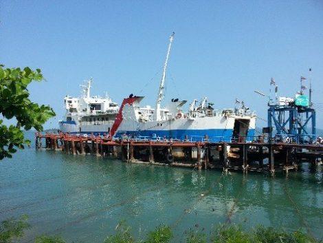 Phantip Travel passengers travel on the Raja Car Ferry