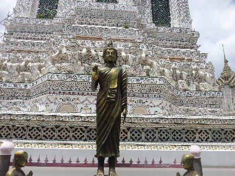 Buddha Statue at Wat Arun temple in Bangkok