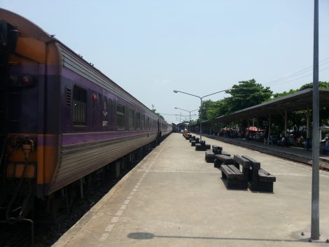 You can travel from Koh Phi Phi to Bangkok by train via Surat Thani