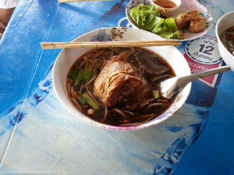Duck noodles at Khlong Suan 100 Years Market