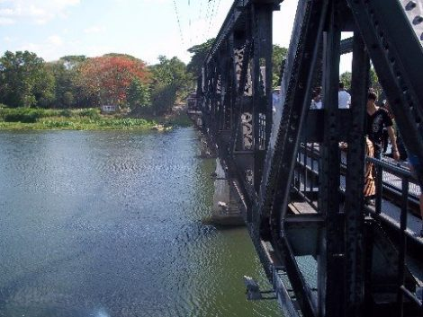 The famous railway Bridge at Kanchanaburi