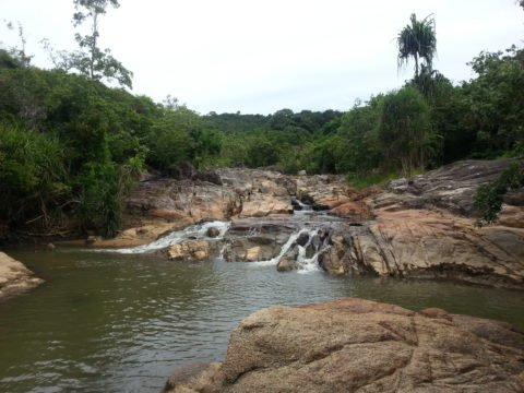 Lower waterfall at Than Sadet