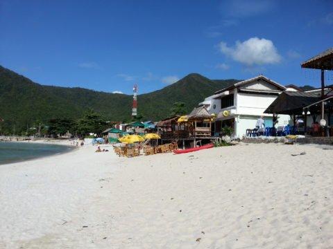 Restaurants in Fisherman's Village have balconies overlooking the sea
