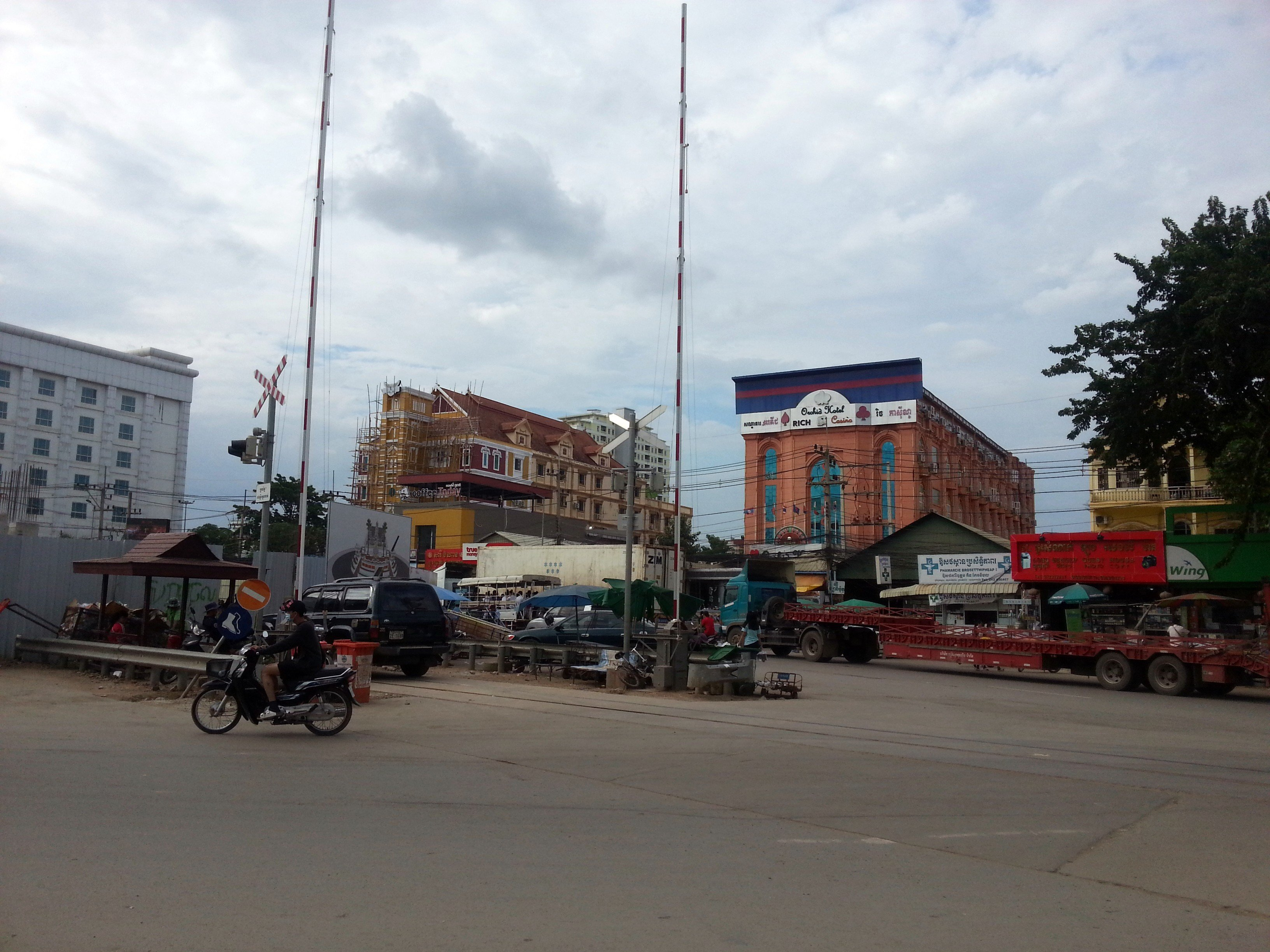 The Cambodia side of the border