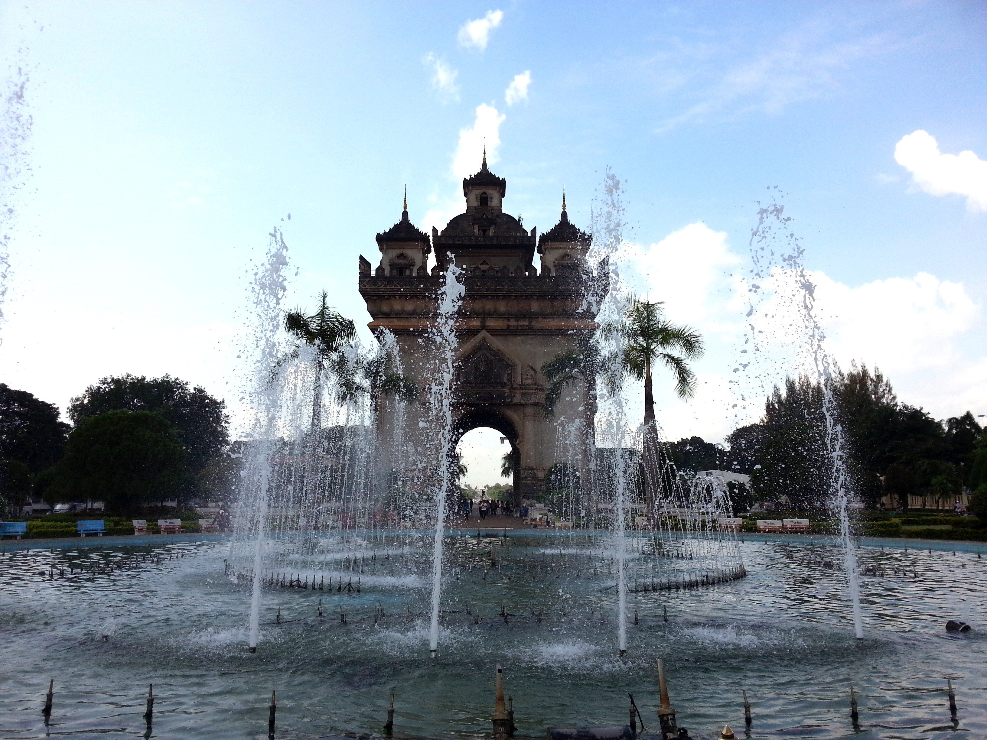 'nam phu' is the Thai word for fountain
