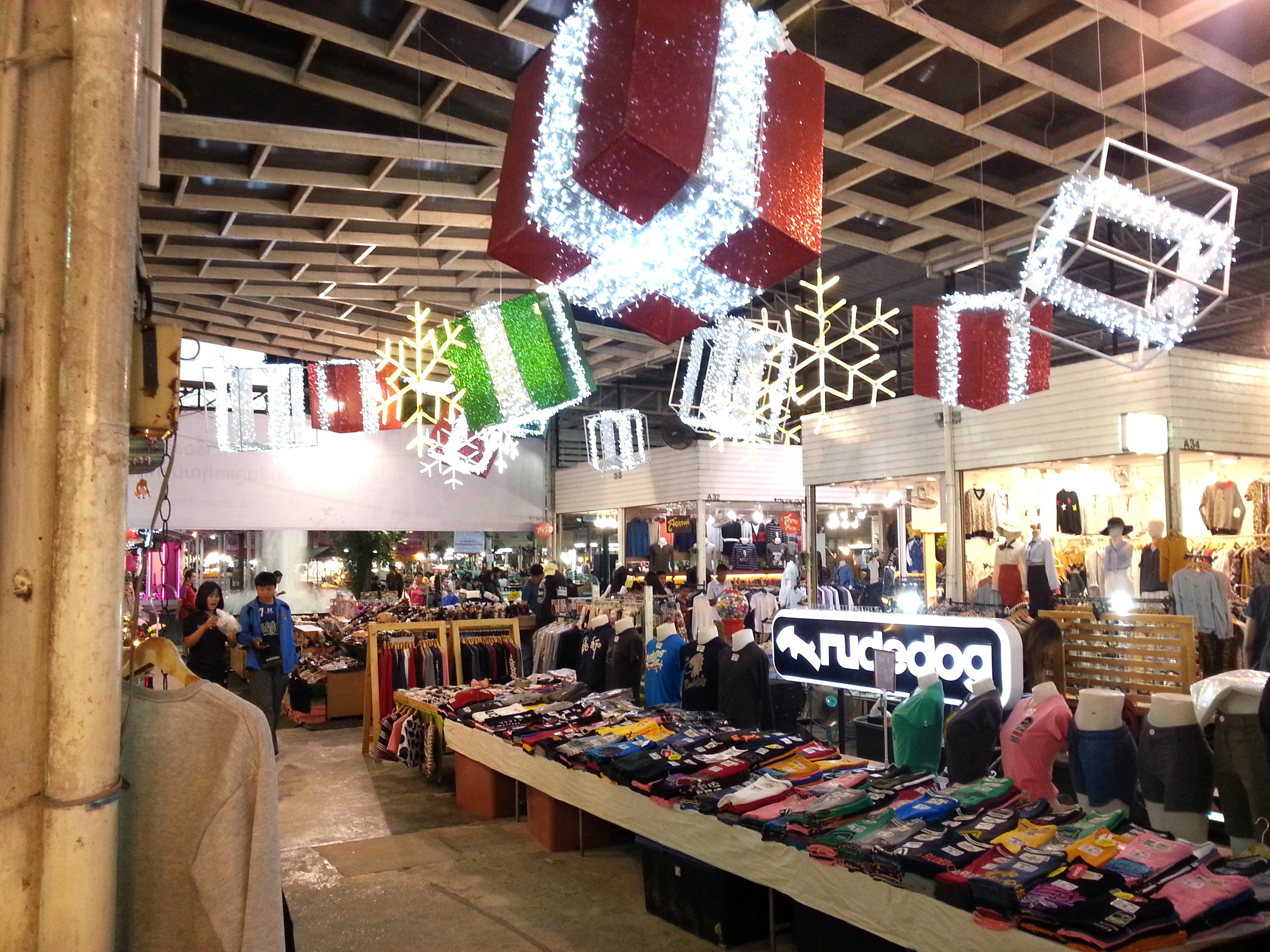 Clothes stalls at UD Shopping Mall