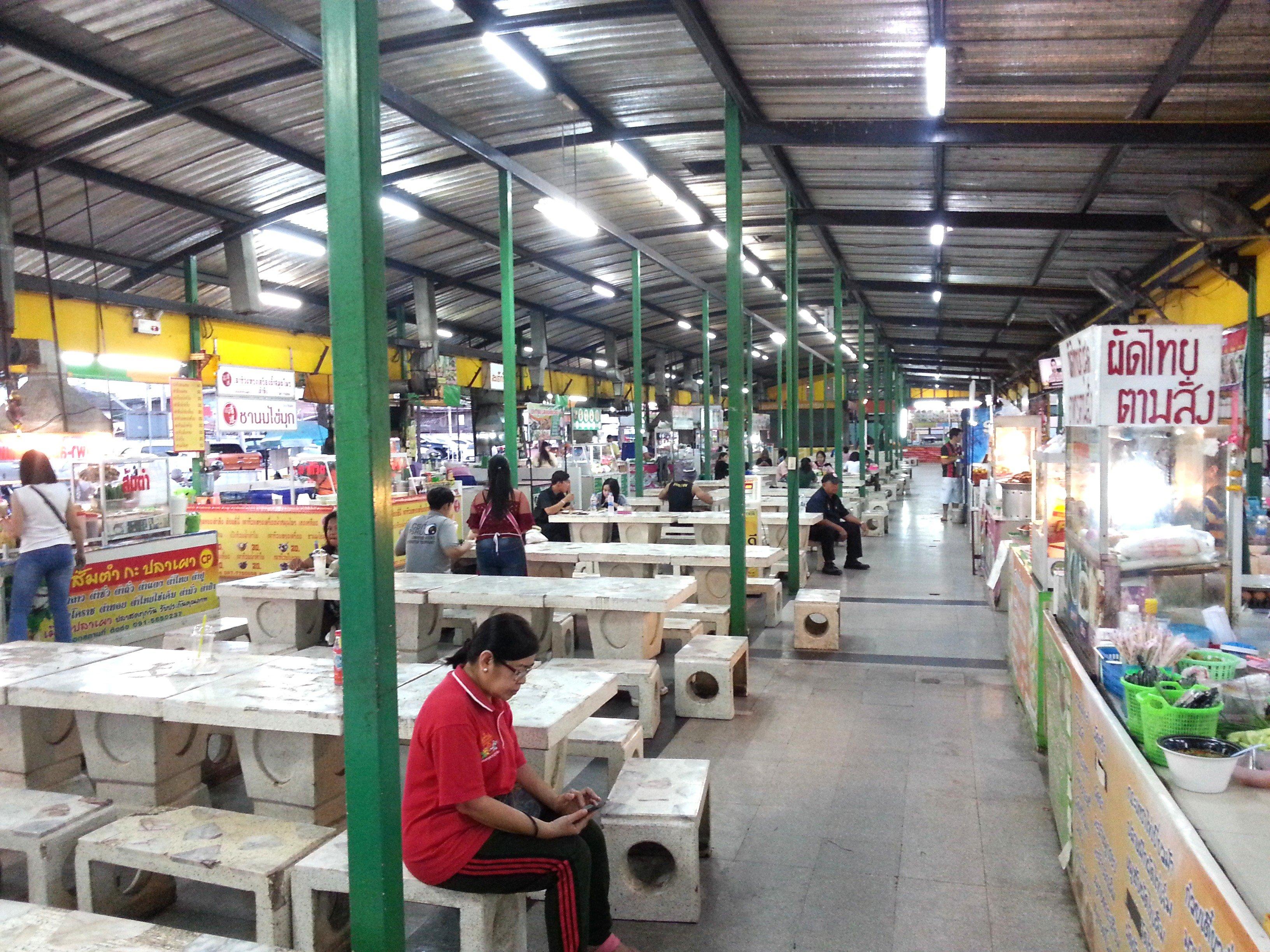 Food stalls at Udon Thani Night Market