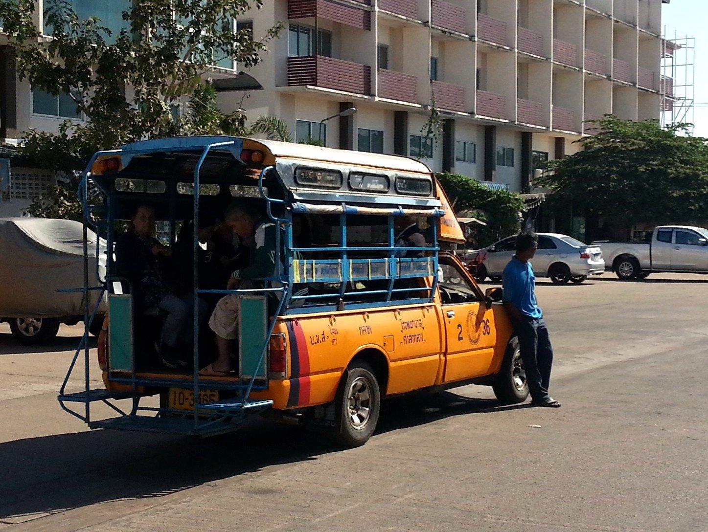 Shared taxi outside Sakon Nakhon Bus Terminal 2