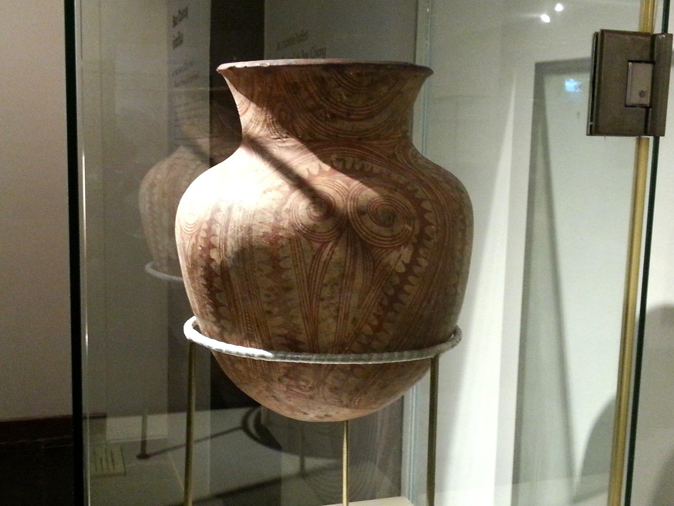 Elaborately decorated jar found at Ban Chiang