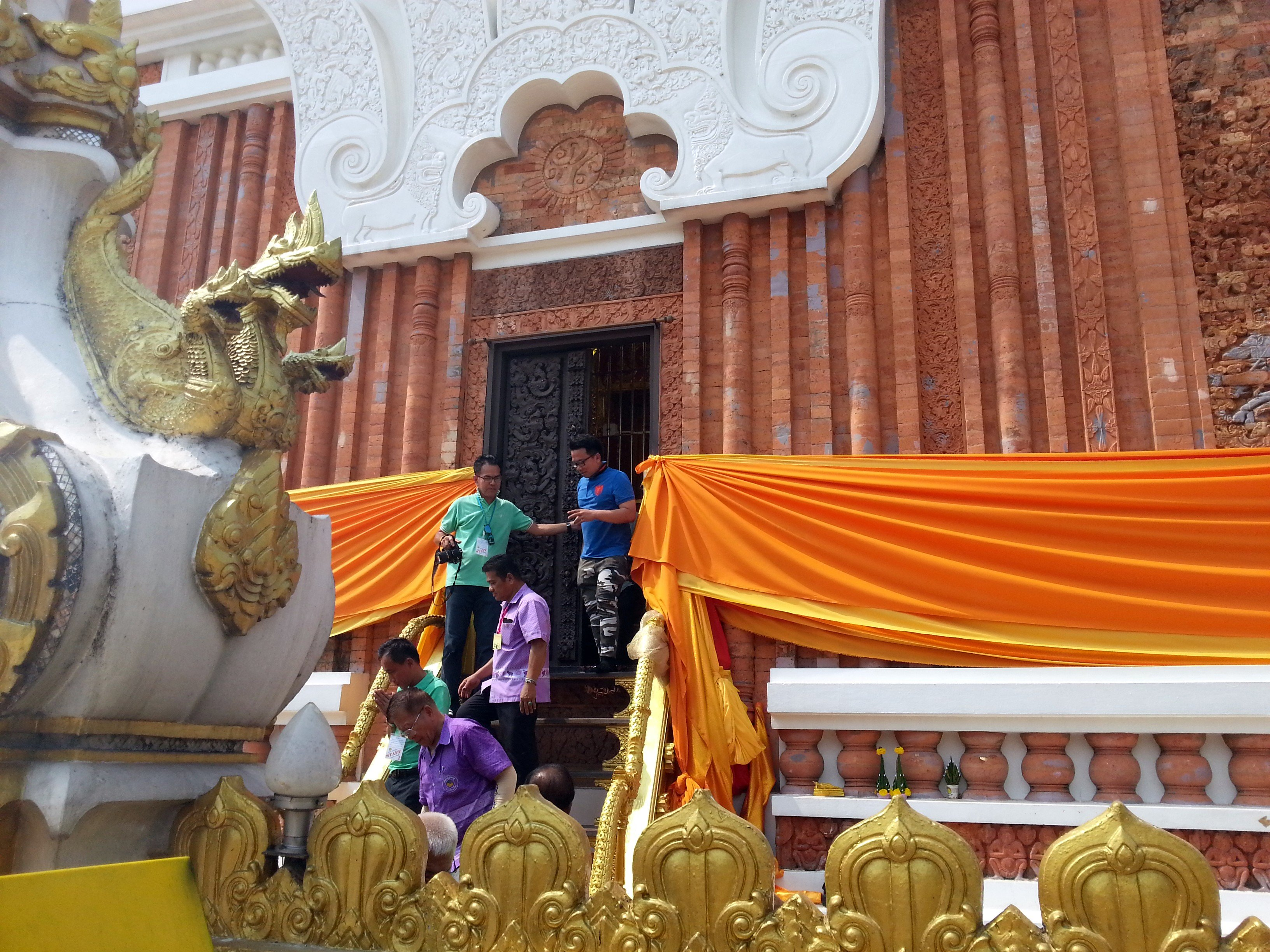 Entrance to the relic room at Wat Phra That Phanom