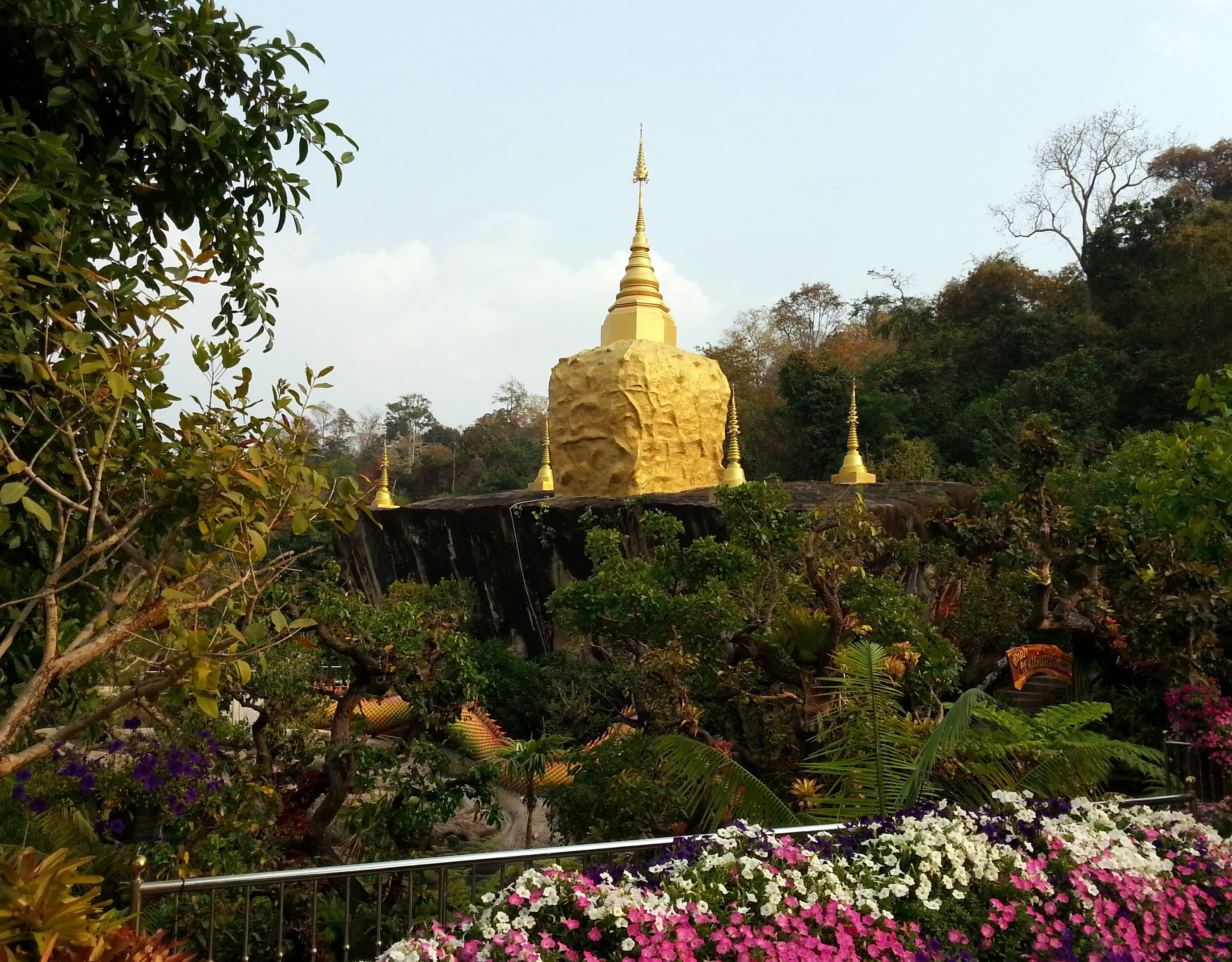 Golden Rock at Wat Tham Pha Daen