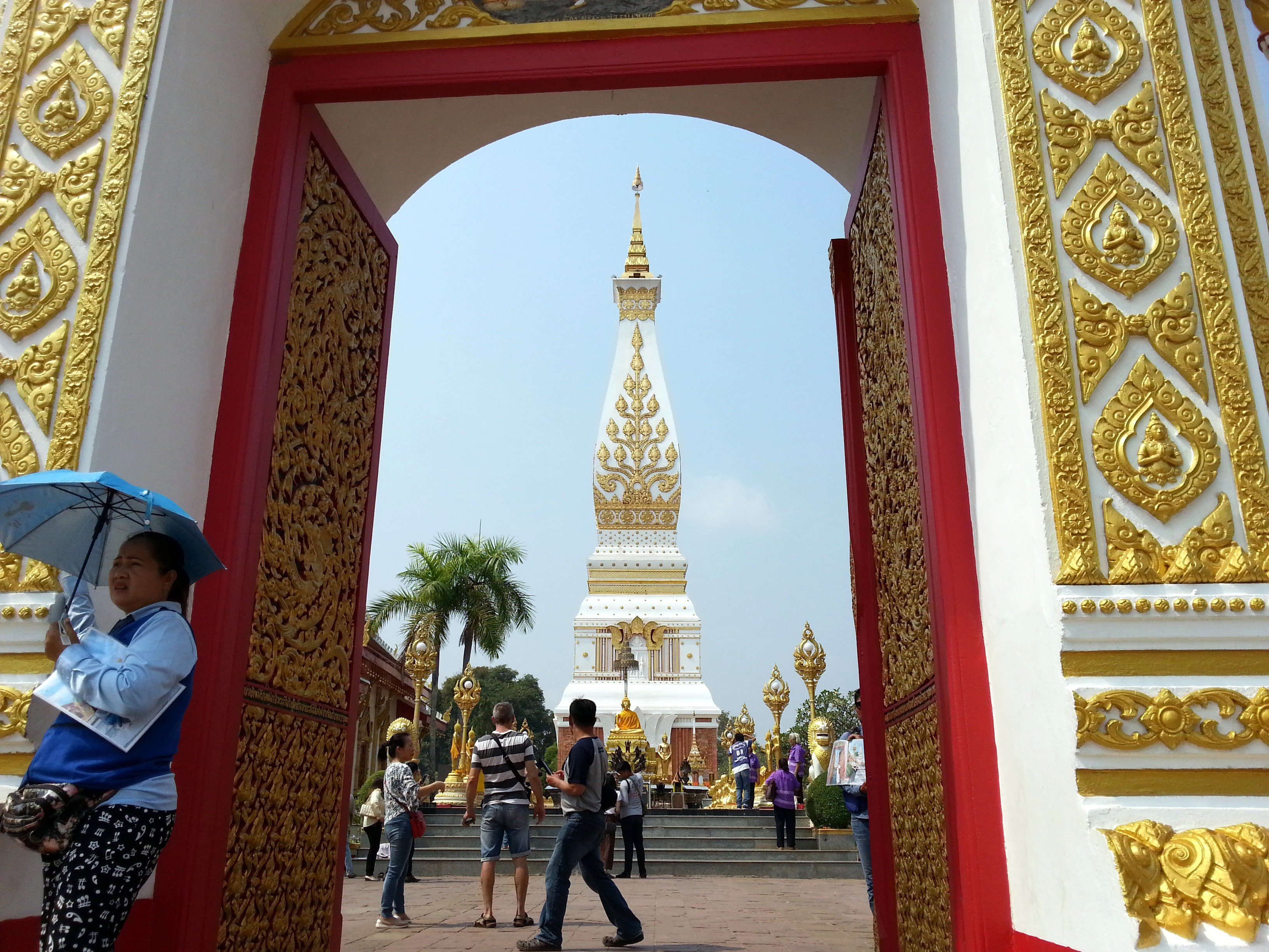 The famous chedi at Wat Phra That Phanom