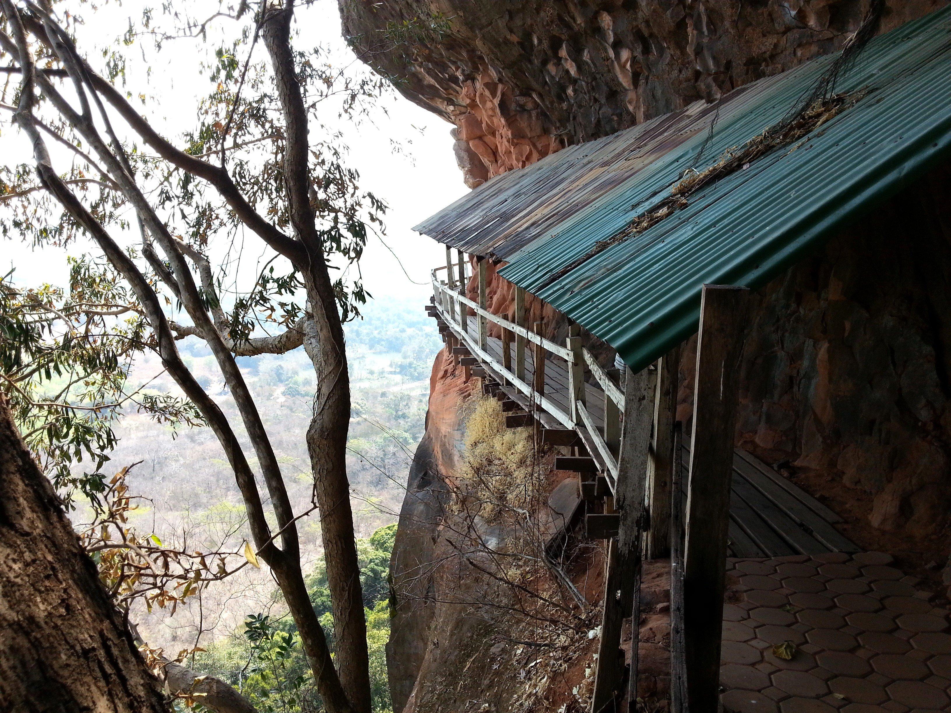 The walkway on Level 6 of Phu Tok