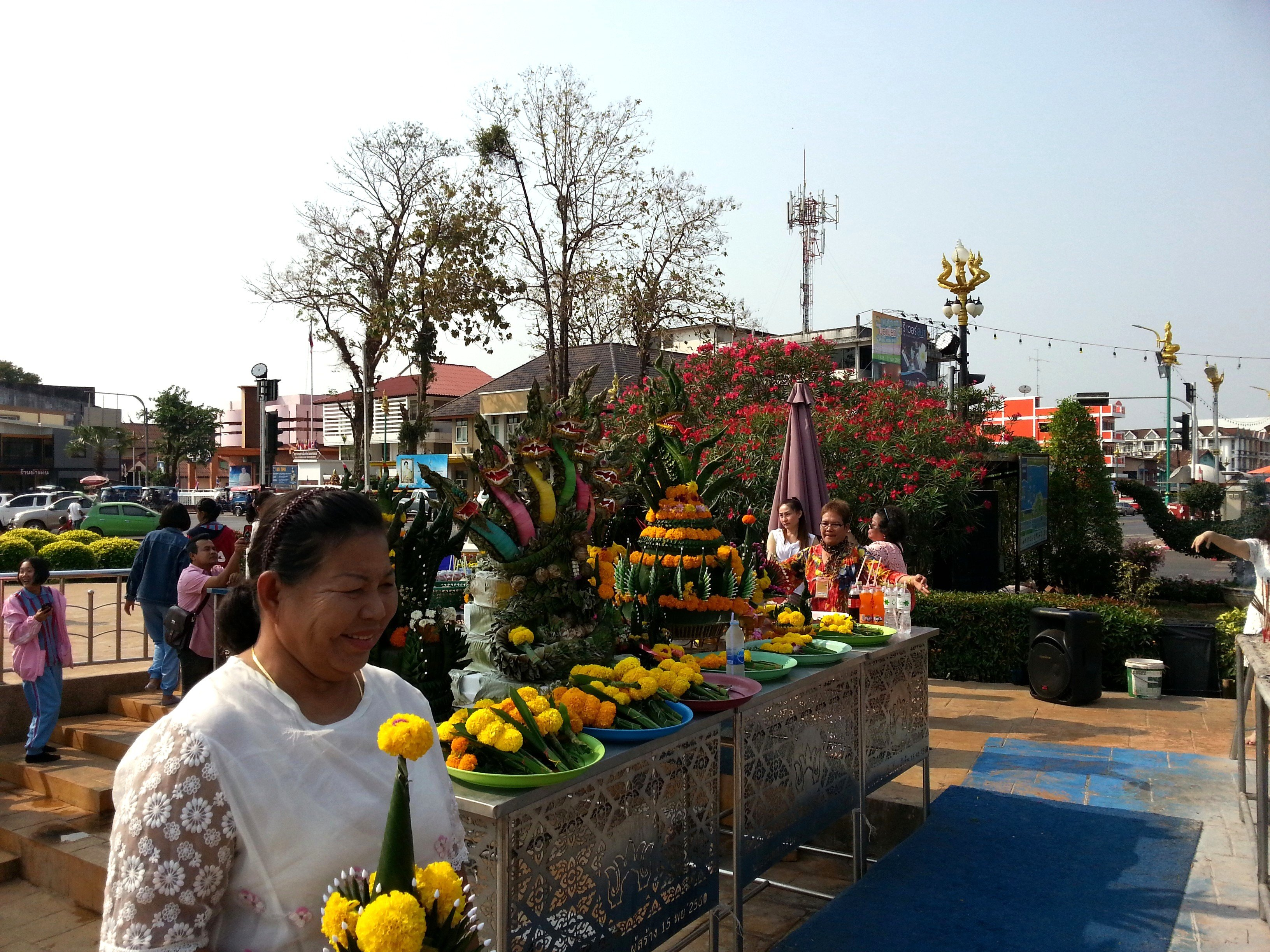 Worshippers at the Naga Monument