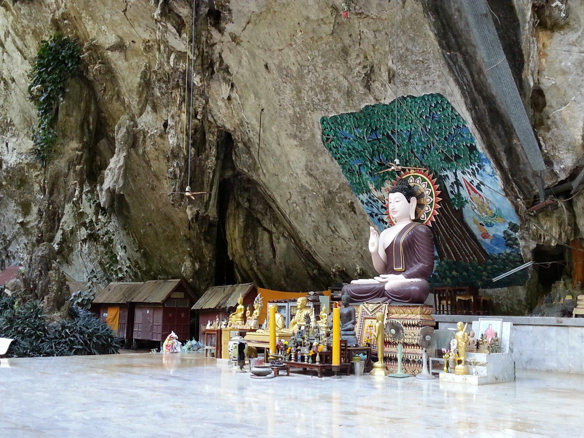 Cave shrine at Wat Tham Suea